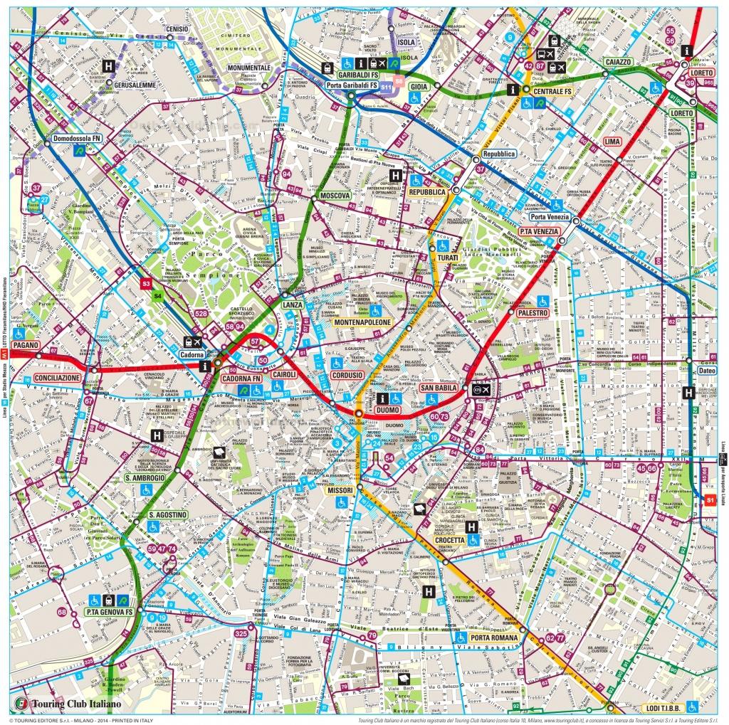 Milan Maps   Italy   Maps Of Milan (Milano) - Printable Map Of Milan