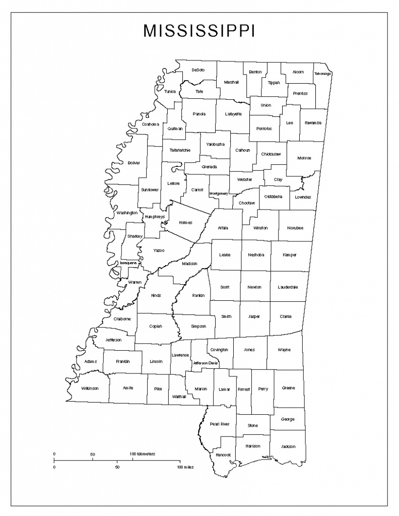 Mississippi Labeled Map - Printable Map Of Mississippi