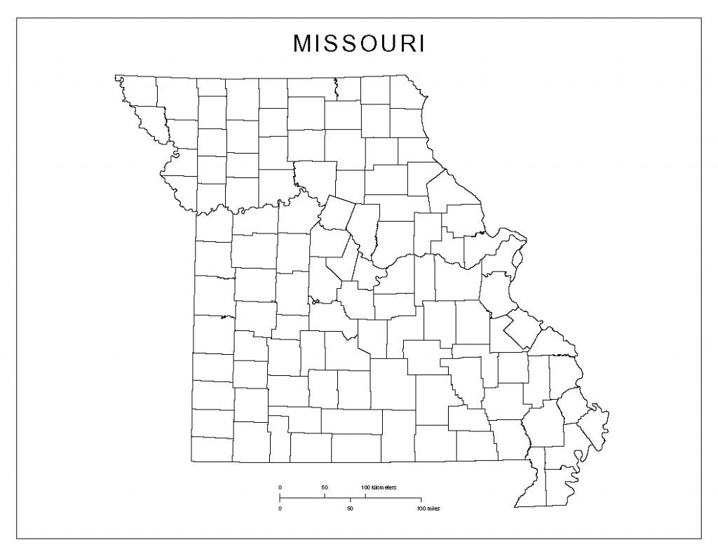 Missouri Blank Map - Printable Blank Map Of Missouri