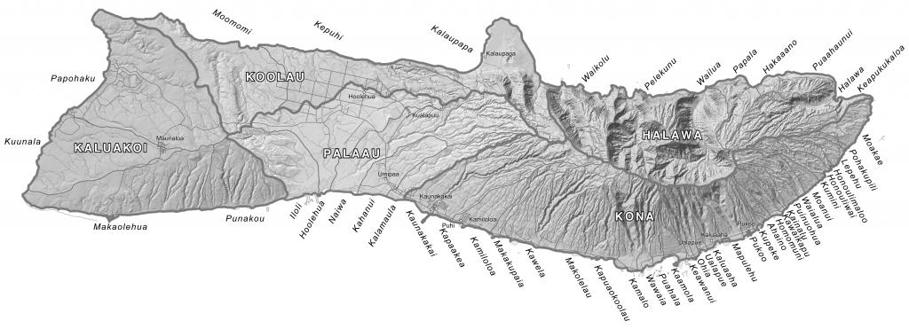 Moku Maps   Aha Moku - Molokai Map Printable