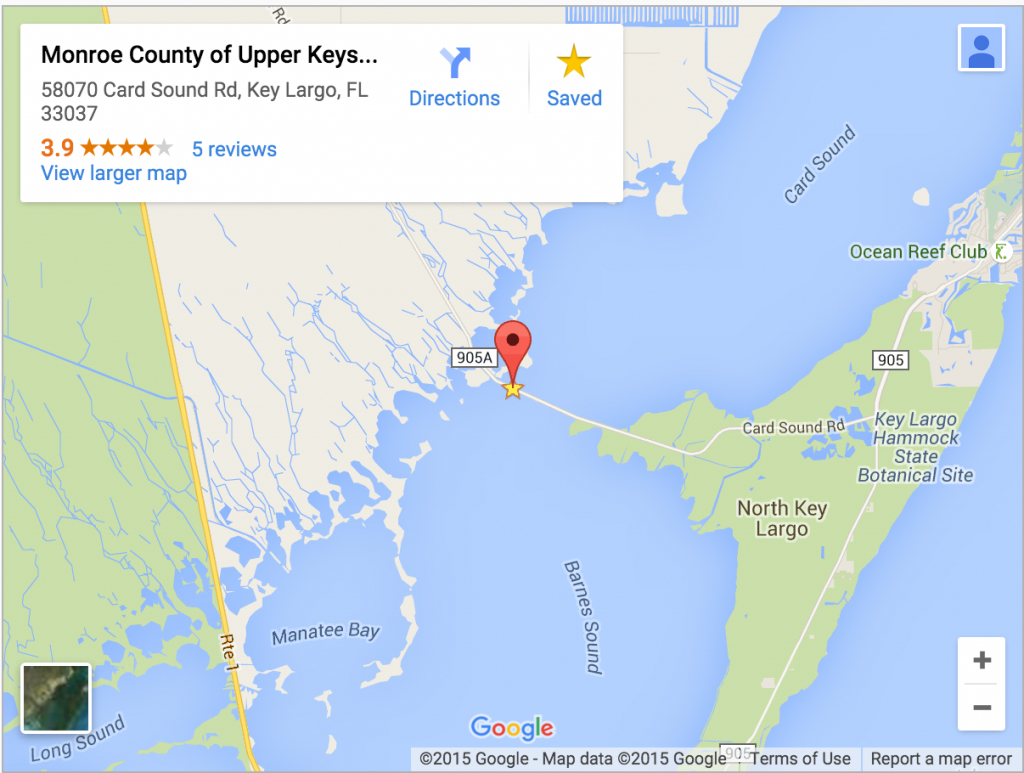 Monroe County Considers Automating Card Sound Toll Booth | Wlrn - Google Maps Key Largo Florida