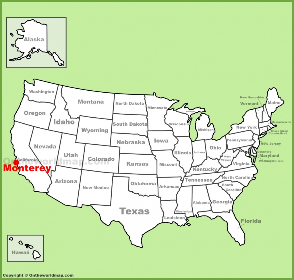 Monterey Maps | California, U.s. | Maps Of Monterey - Where Is Monterey California On The Map