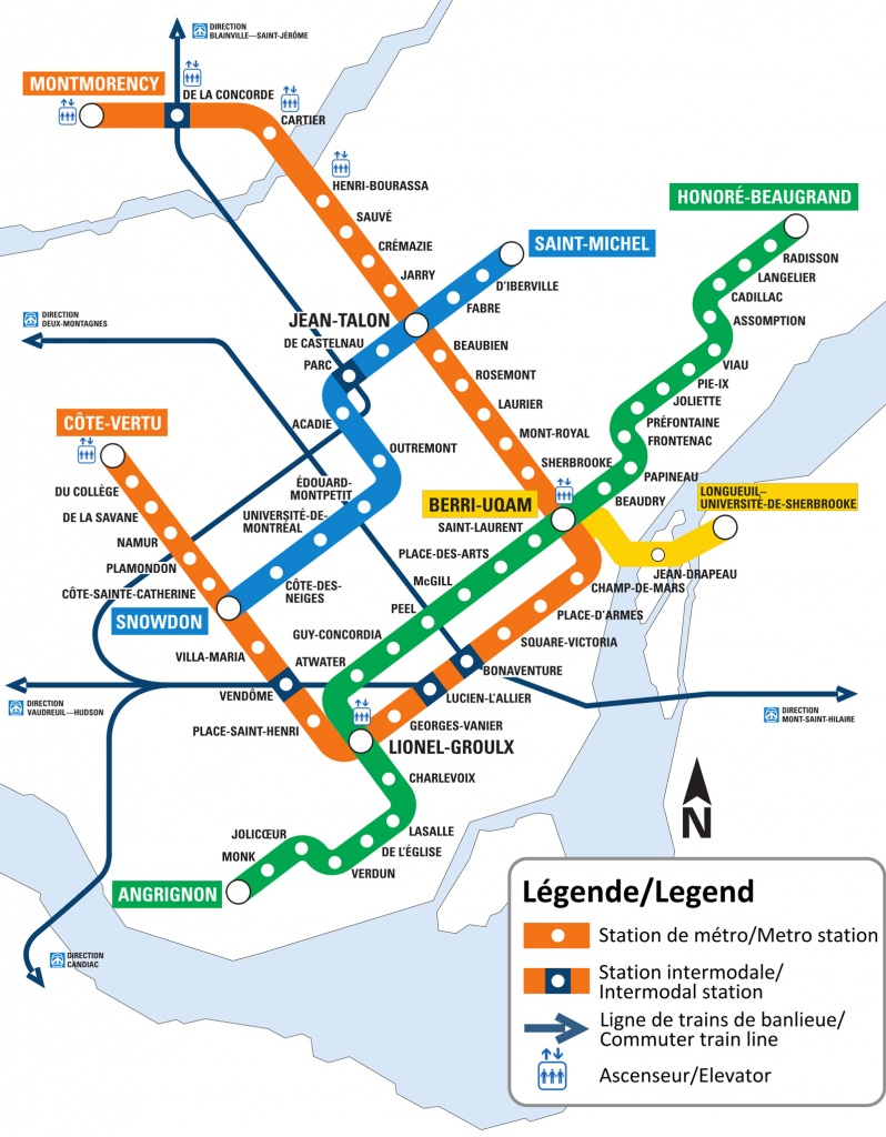 Montreal Metro Map - Go! Montreal Tourism Guide - Montreal Metro Map Printable