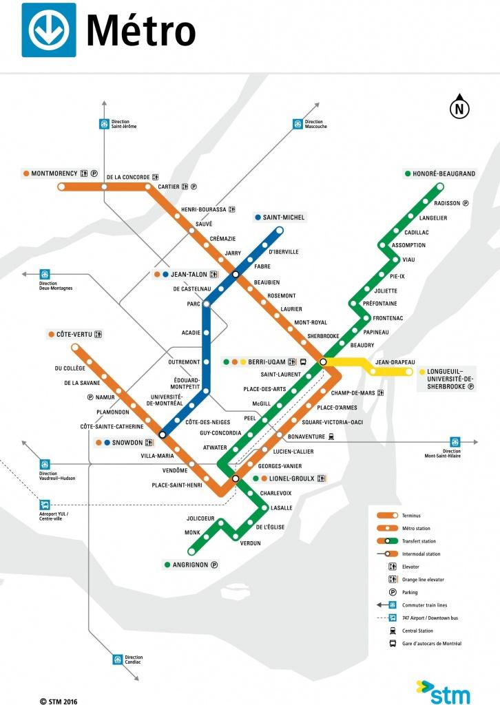 Montreal Metro Map - Montreal Metro Map Printable