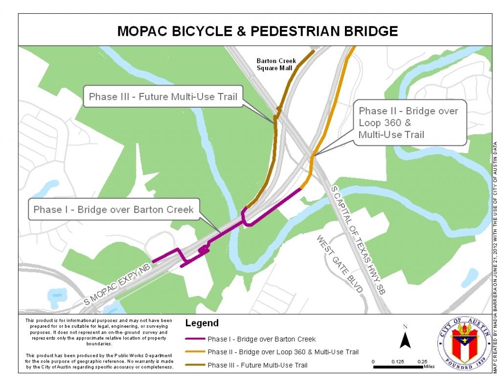 Mopac Mobility Bridges   Austintexas.gov - The Official Website Of - Austin Texas Bicycle Map