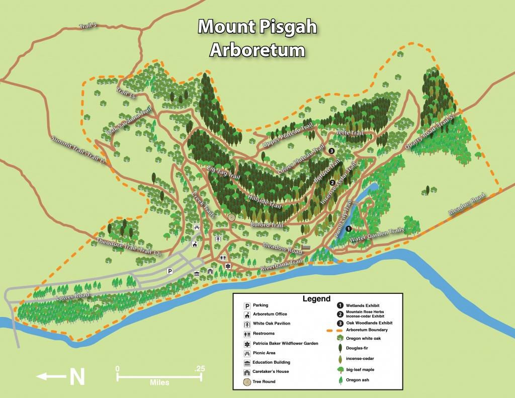 Mount Pisgah Arboretum Trail Maps | Mount Pisgah Arboretum - Printable Hiking Maps