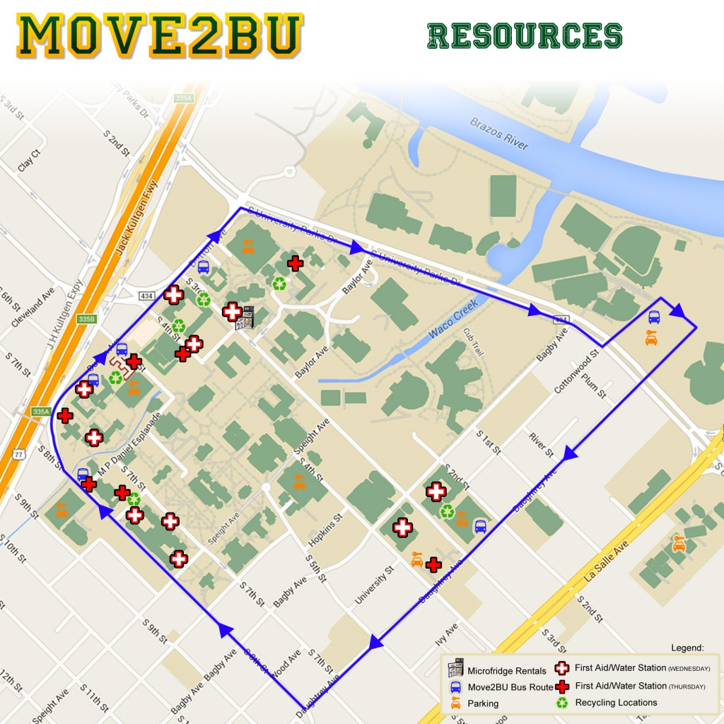 Move-In   Campus Living & Learning   Baylor University - Texas Tech Housing Map