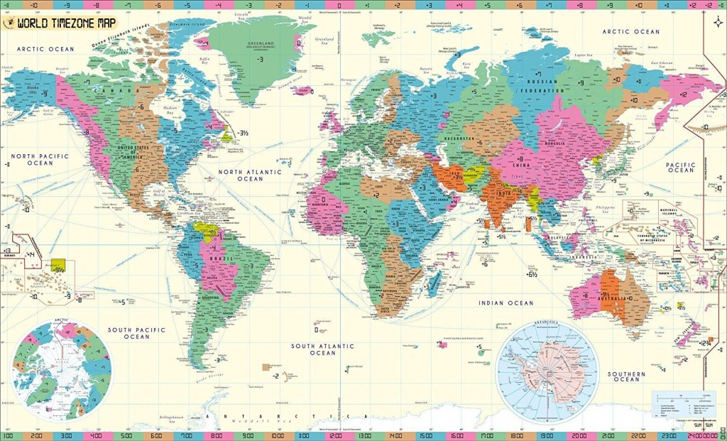 Mow Amz On | Maps | Time Zone Map, World Time Zones, World Map Poster - World Time Zone Map Printable Free