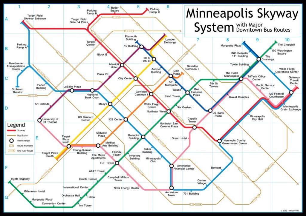 Mpls Skyway Map   Compressportnederland - Minneapolis Skyway Map Printable