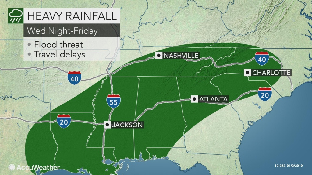 Multifaceted Storm To Bring Drenching Rain To Southern Us Through - North Texas Radar Map