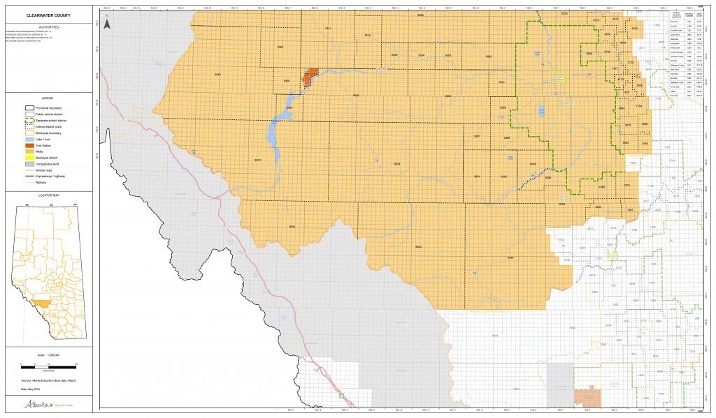 Municipal Maps - Printable Red Deer Map