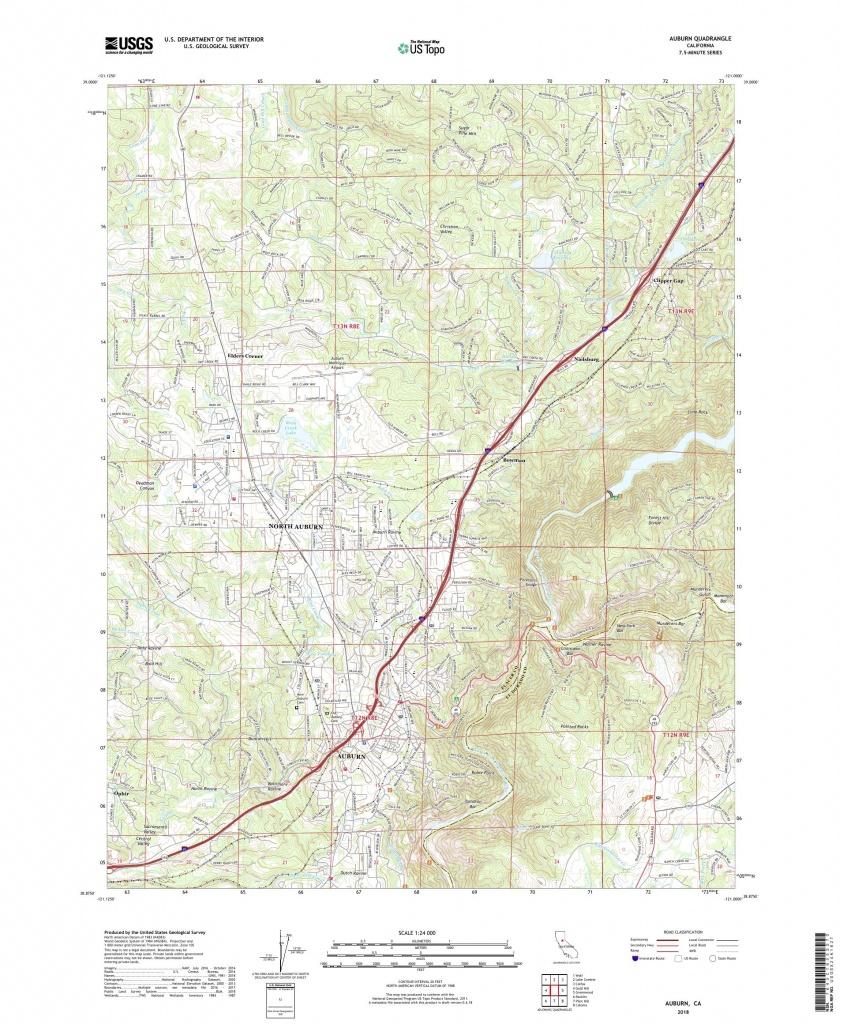 Mytopo Auburn, California Usgs Quad Topo Map - Auburn California Map