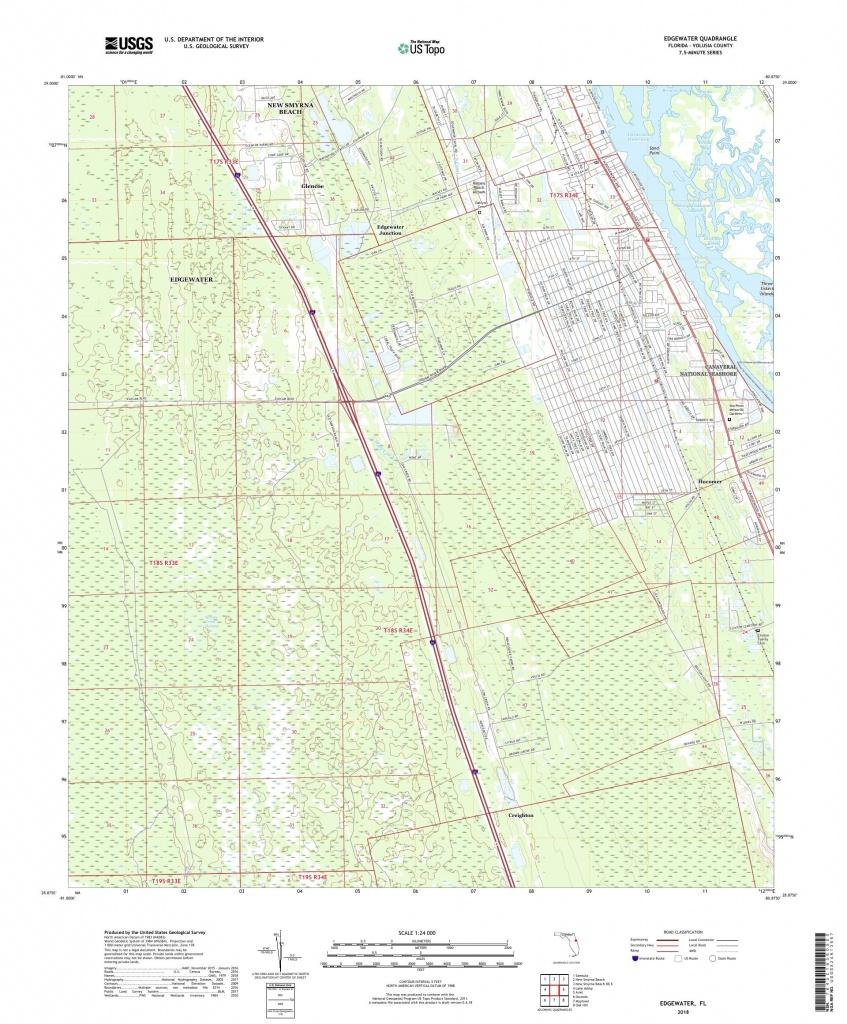 Mytopo Edgewater, Florida Usgs Quad Topo Map - Edgewater Florida Map