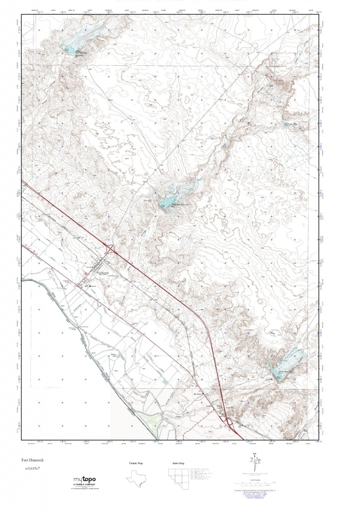 Mytopo Fort Hancock, Texas Usgs Quad Topo Map - Fort Hancock Texas Map