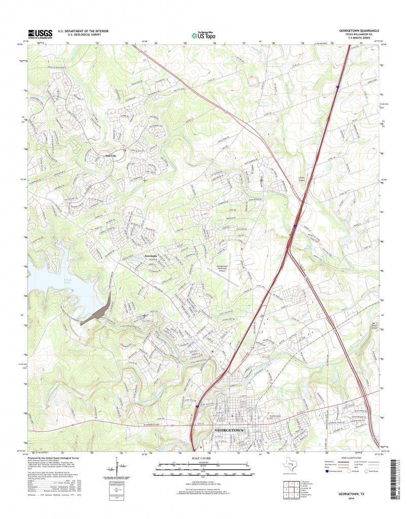 Mytopo Georgetown, Texas Usgs Quad Topo Map - Georgetown Texas Map
