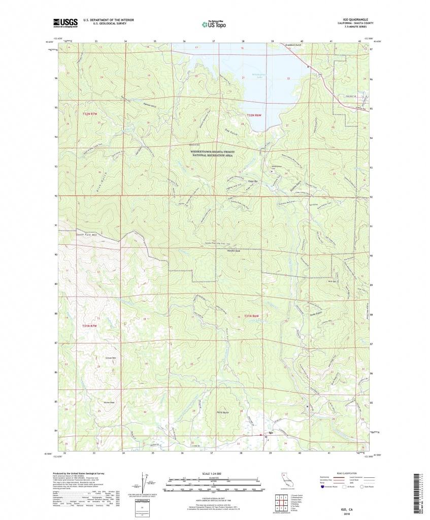 Mytopo Igo, California Usgs Quad Topo Map - Ono California Map