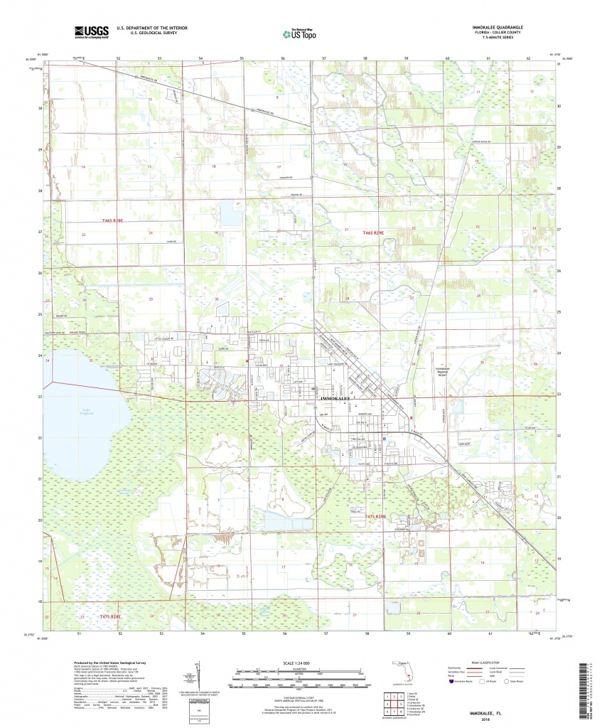 Mytopo Immokalee, Florida Usgs Quad Topo Map - Immokalee Florida Map