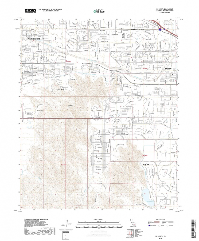 Mytopo La Quinta, California Usgs Quad Topo Map - La Quinta California Map