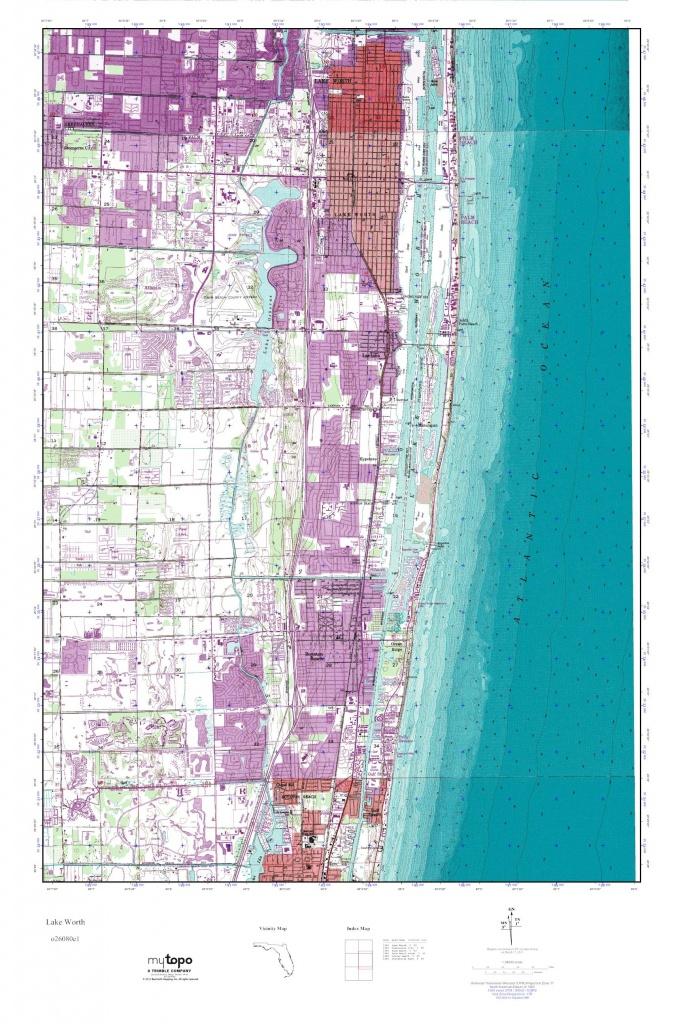 Mytopo Lake Worth, Florida Usgs Quad Topo Map - Lake Worth Florida Map
