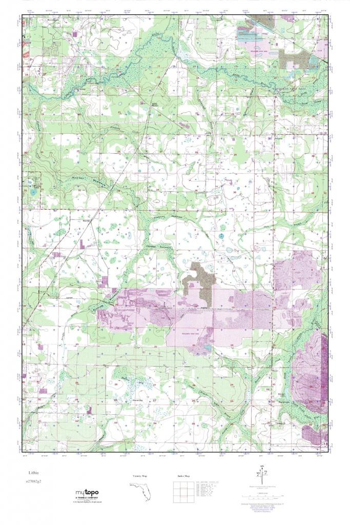 Mytopo Lithia, Florida Usgs Quad Topo Map - Lithia Florida Map