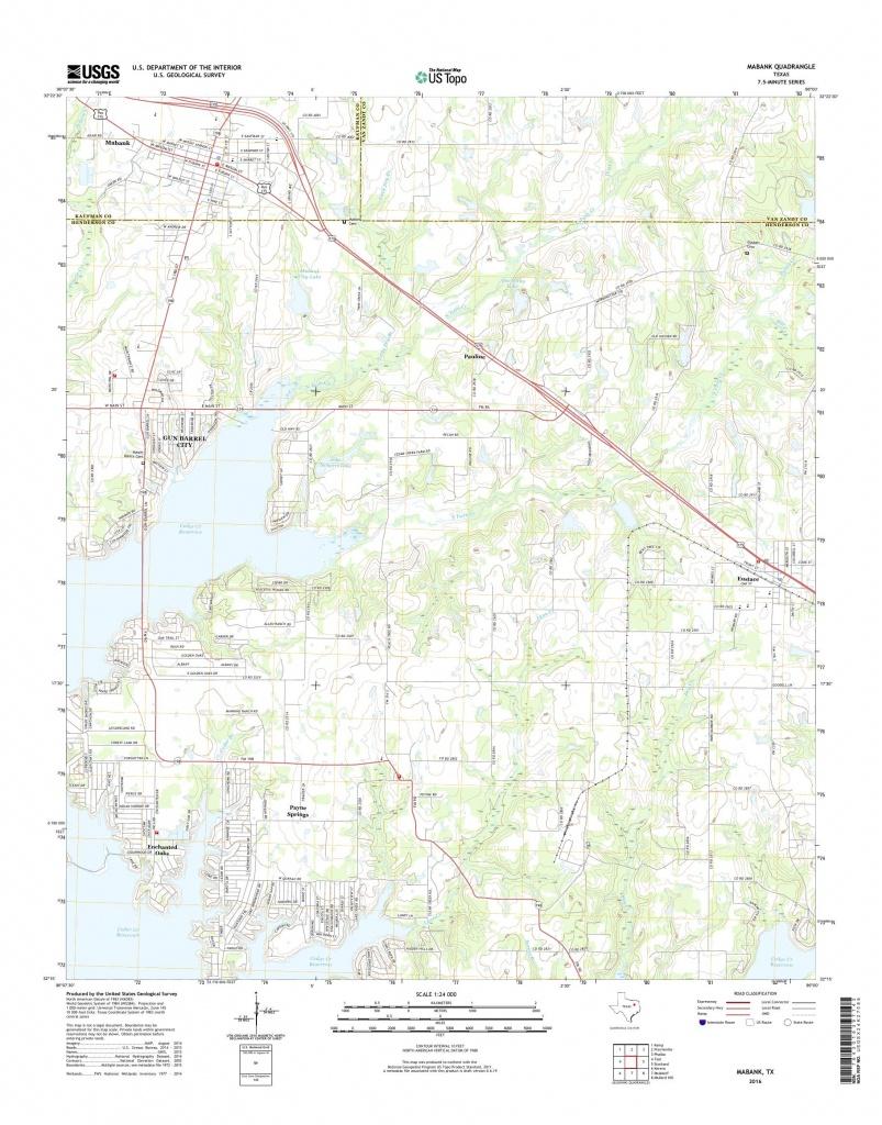 Mytopo Mabank, Texas Usgs Quad Topo Map - Mabank Texas Map