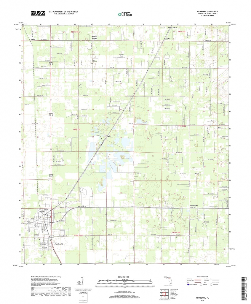 Mytopo Newberry, Florida Usgs Quad Topo Map - Newberry Florida Map