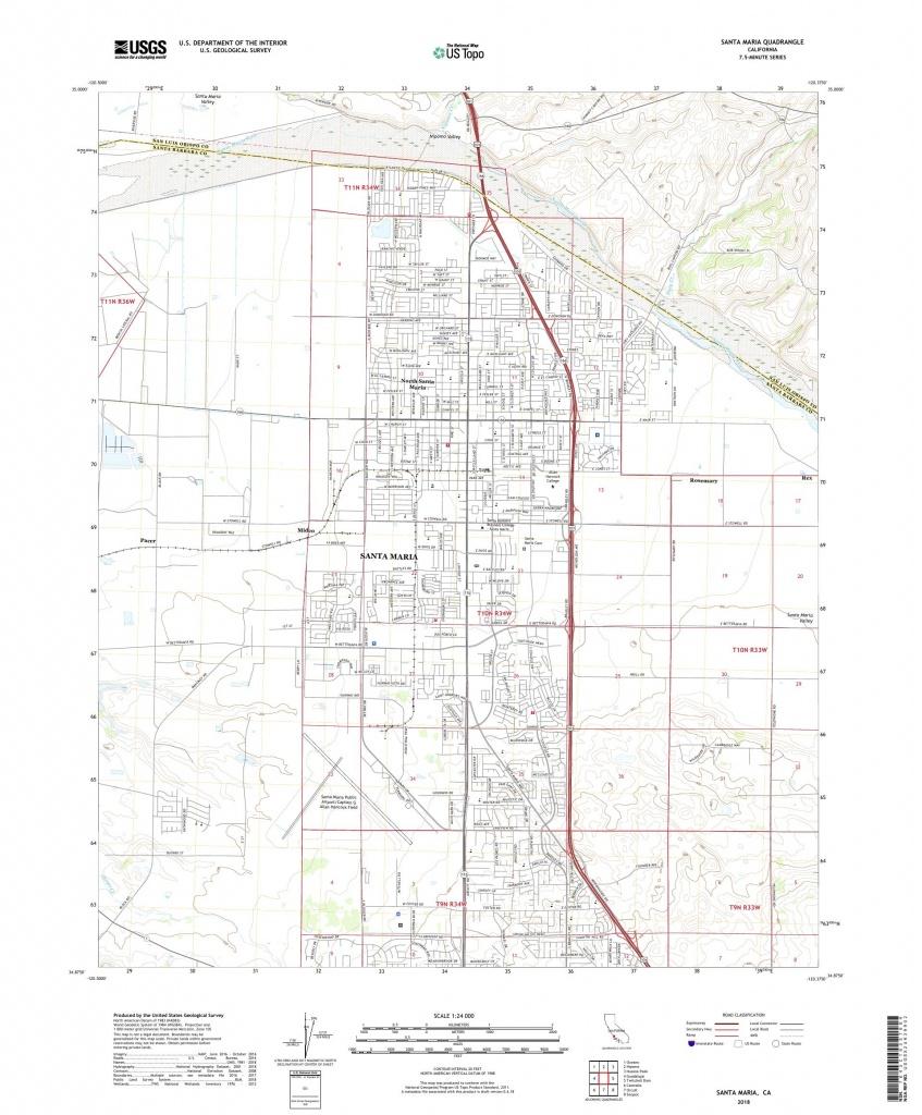 Mytopo Santa Maria, California Usgs Quad Topo Map - Santa Maria California Map
