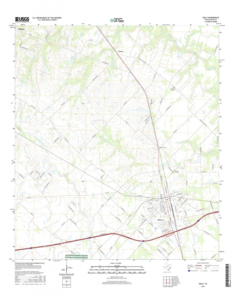 Mytopo Sealy, Texas Usgs Quad Topo Map - Sealy Texas Map