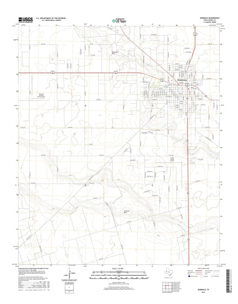 Mytopo Seminole, Texas Usgs Quad Topo Map - Seminole Texas Map