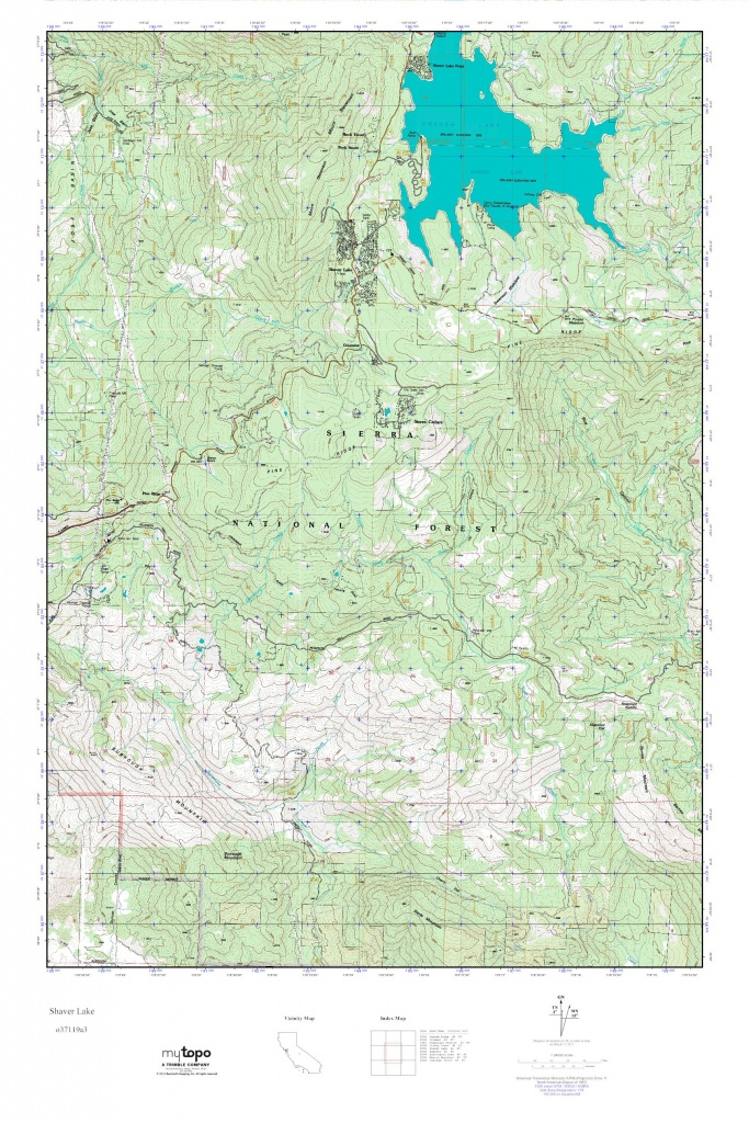 Mytopo Shaver Lake, California Usgs Quad Topo Map - Shaver Lake California Map