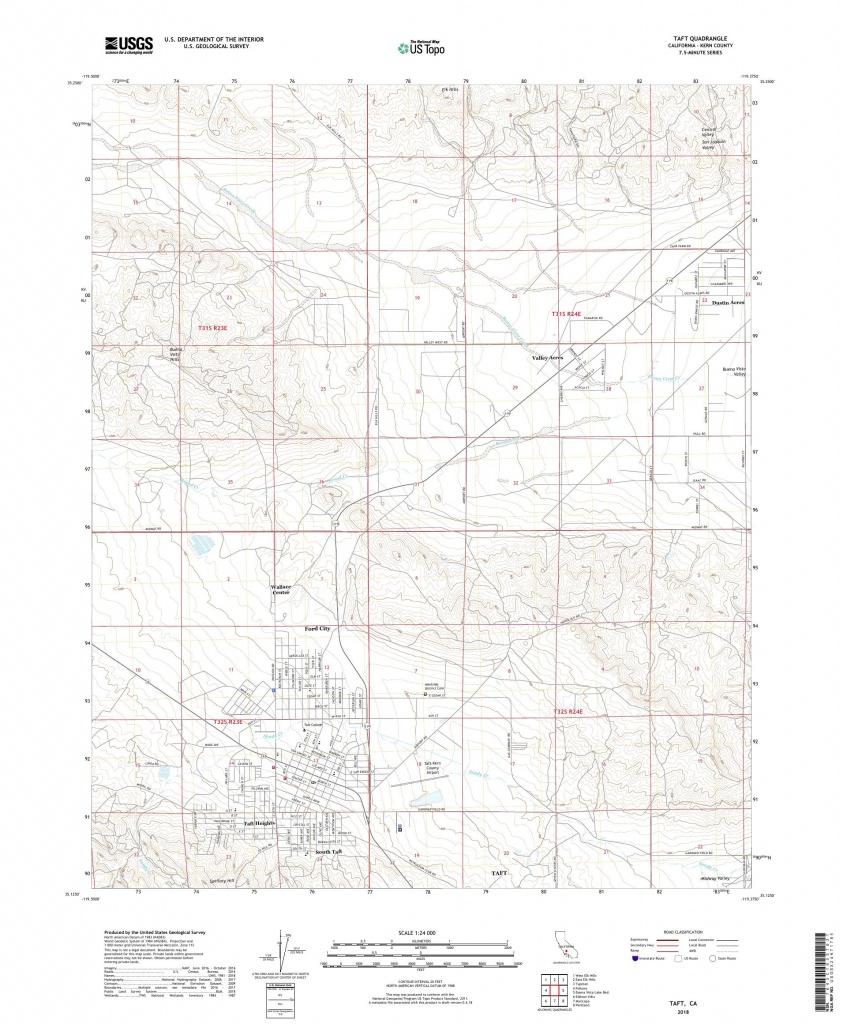 Mytopo Taft, California Usgs Quad Topo Map - Taft California Map
