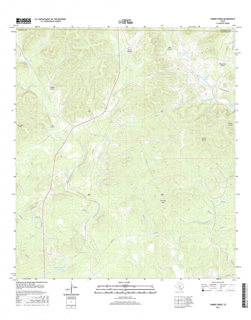Mytopo Timber Creek, Texas Usgs Quad Topo Map - Pipe Creek Texas Map