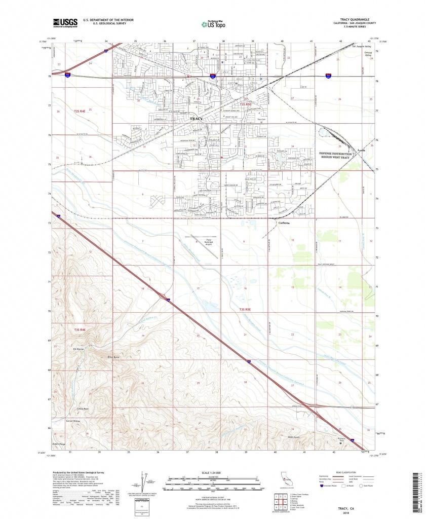 Mytopo Tracy, California Usgs Quad Topo Map - Tracy California Map