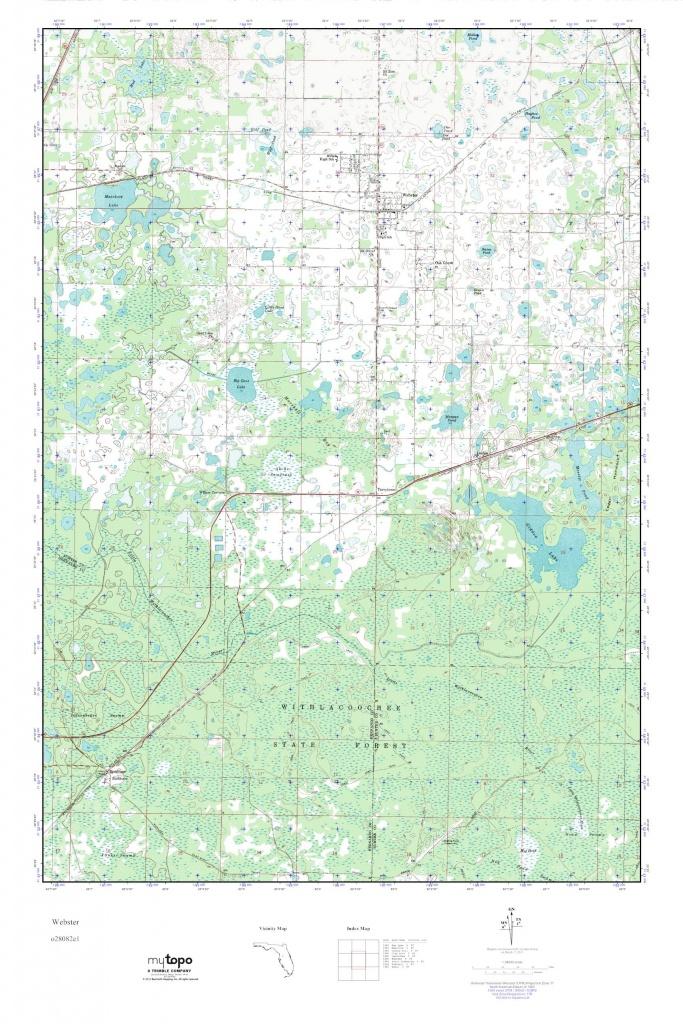 Mytopo Webster, Florida Usgs Quad Topo Map - Webster Florida Map