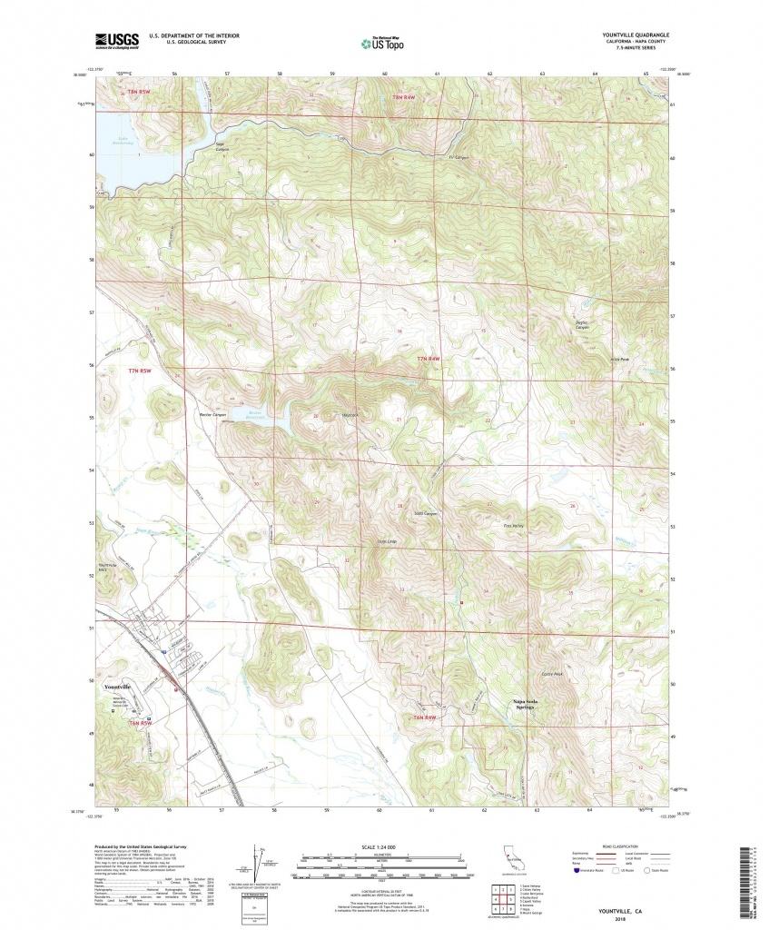 Mytopo Yountville, California Usgs Quad Topo Map - Where Is Yountville California On The Map