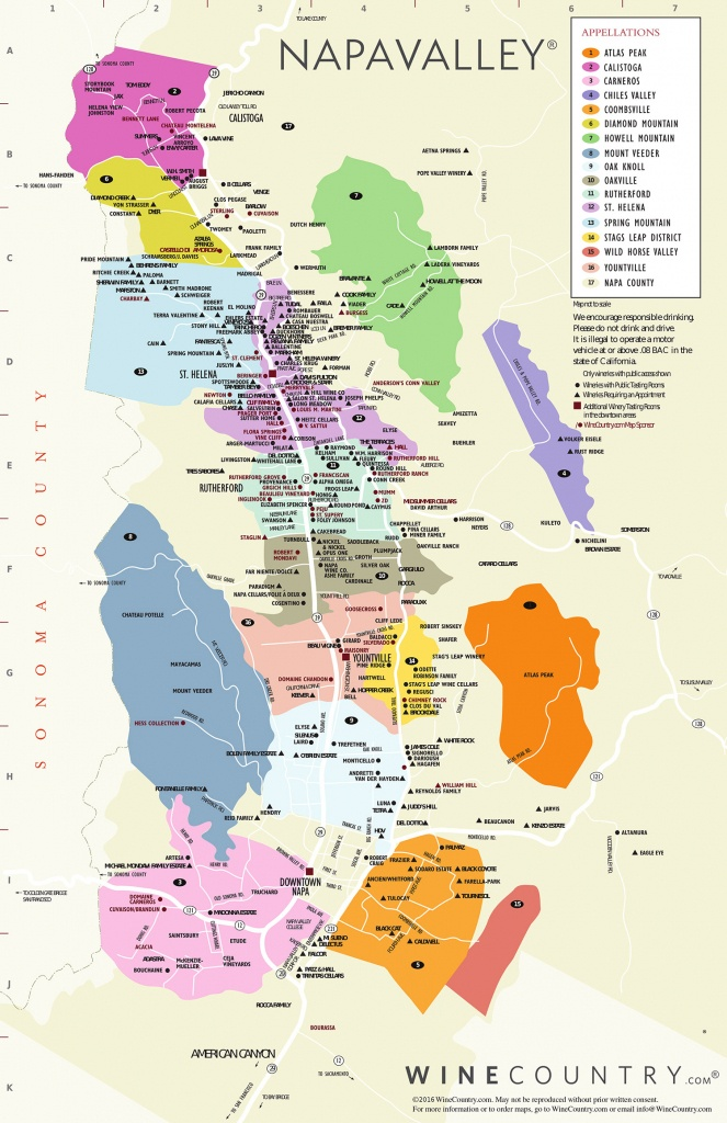 Napa Driver   Sonoma Driver   Wine Tasting And Tours - Wine Tasting California Map