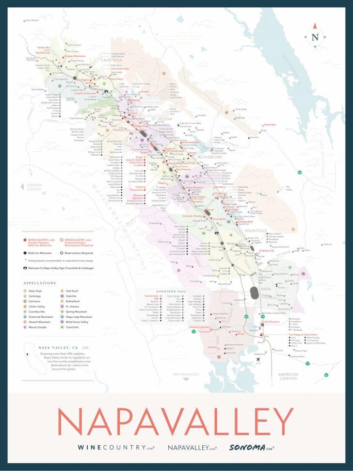 Printable Napa Winery Map