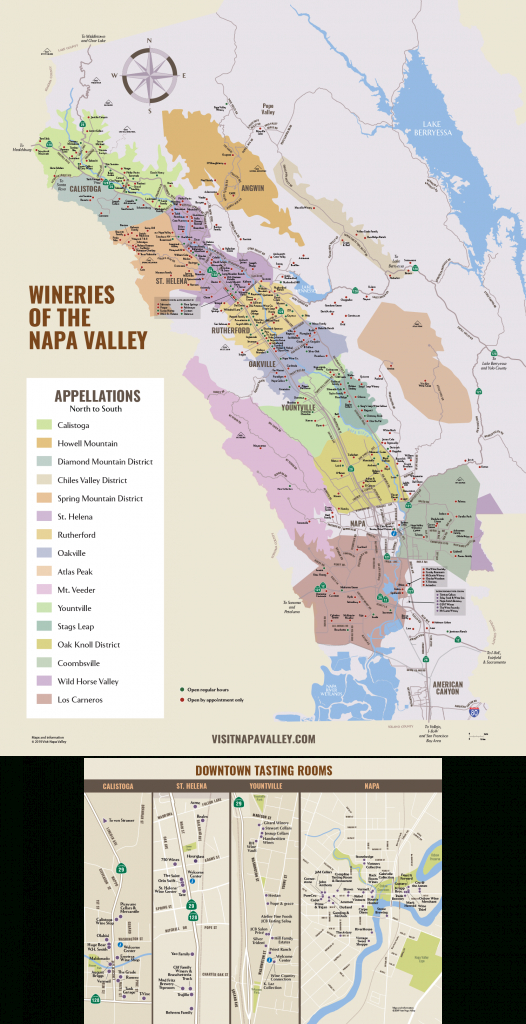 Napa Valley Winery Map | Plan Your Visit To Our Wineries - Napa California Map
