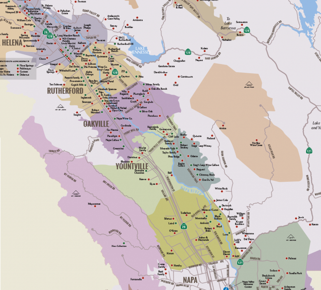 Napa Valley Winery Map | Plan Your Visit To Our Wineries - Wine Country Map Of California