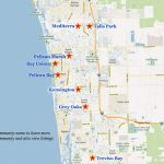 Naples Golf Communities Map   Pelican Bay Florida Map