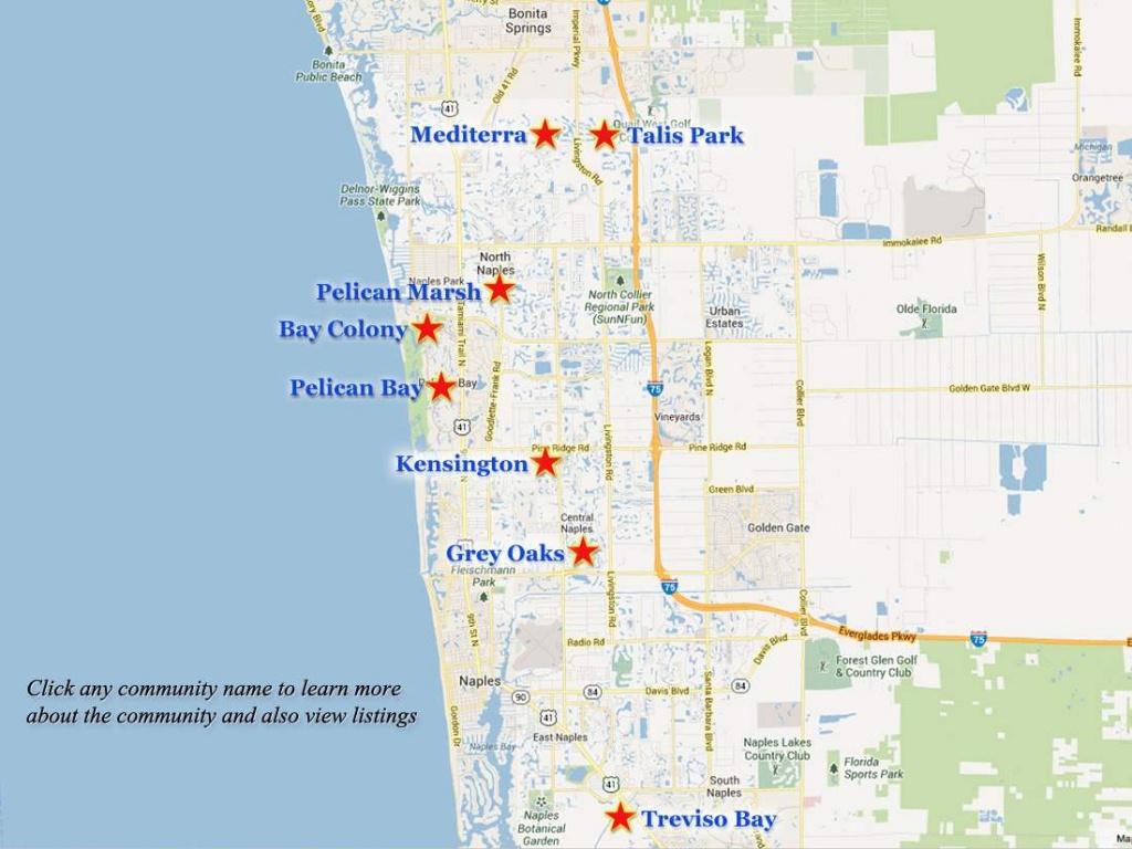 Naples-Golf-Communities-Map - Pelican Bay Florida Map