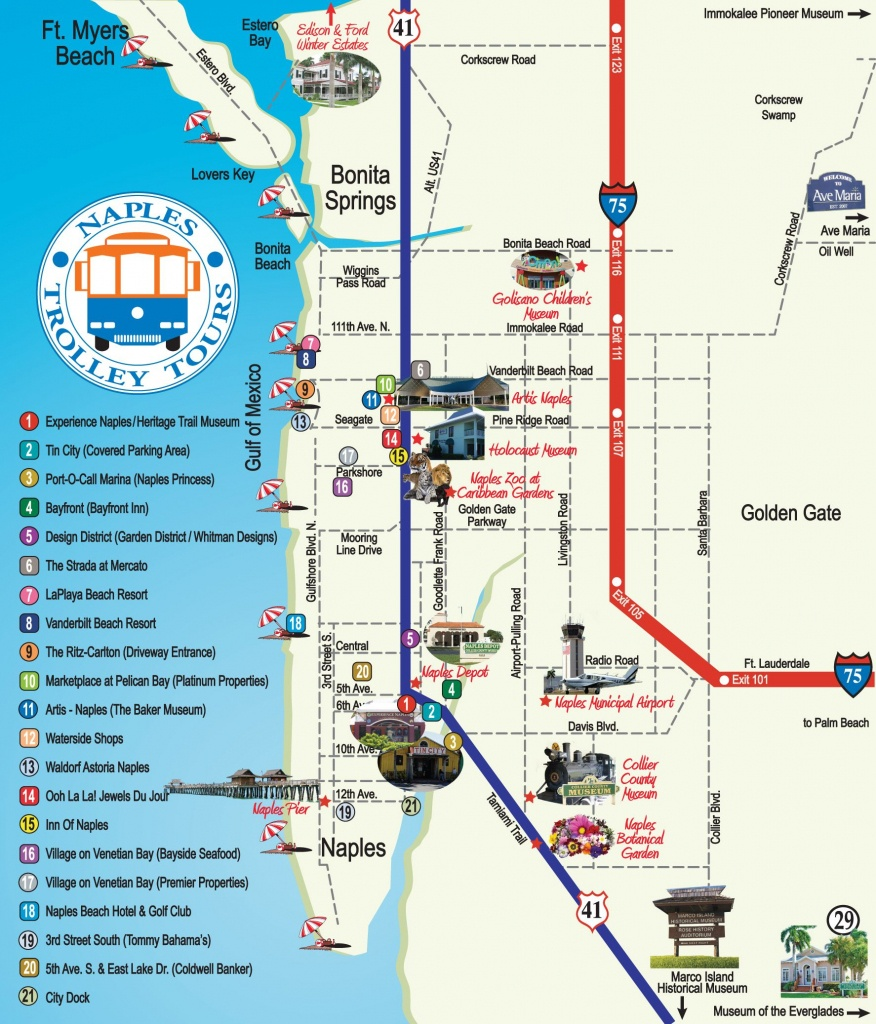 Naples Trolley - Route Map | Fav Places In My Home State..florida - Map Of Hotels In Naples Florida