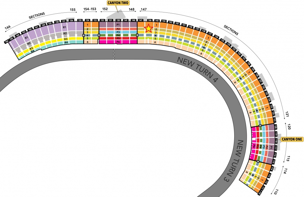 Nascar Seating Charts - Race Track And Speedway Maps - Texas Motor Speedway Track Map