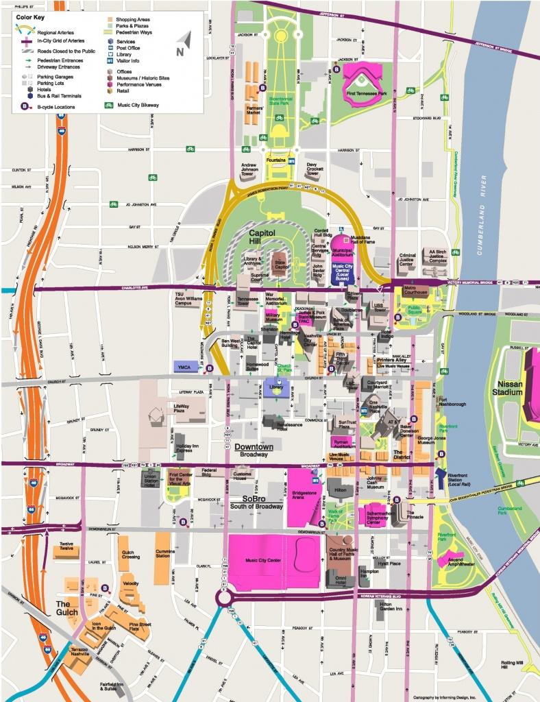 Nashville Maps   Tennessee, U.s.   Maps Of Nashville - Printable Map Of Nashville Tn