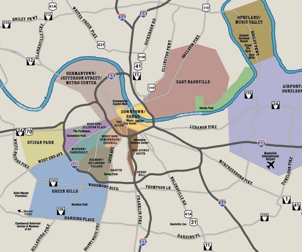 Nashville Neighborhoods   Nashville In 2019   Nashville Map - Printable Map Of Nashville Tn