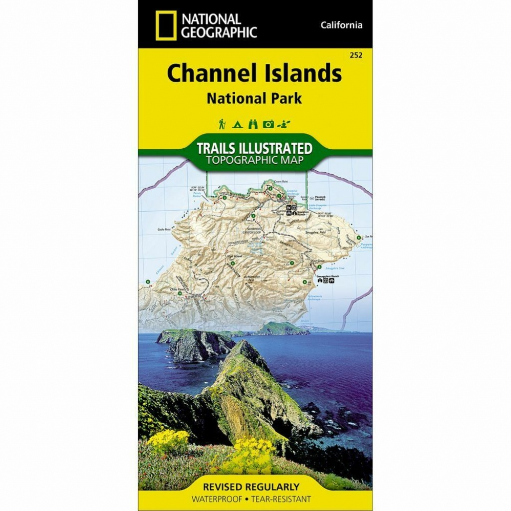 National Geographic Channel Islands Np Trails Illus Topo Map - Ca - National Geographic Topo Maps California