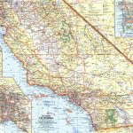 National Geographic Southern California Map 1966   Maps   Map Of Southeastern California