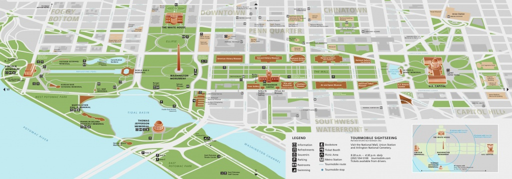 National Mall Maps | Npmaps - Just Free Maps, Period. - Printable Map Of Dc