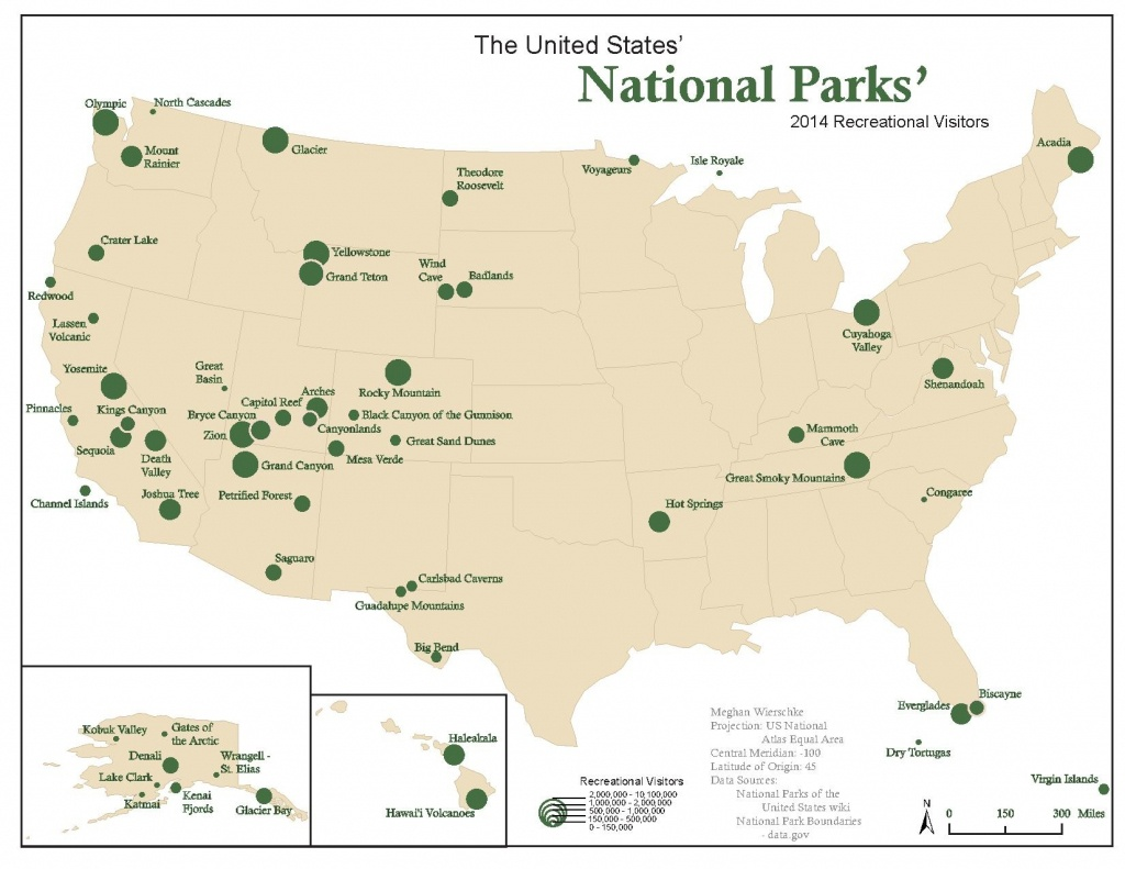 National Park Map Usa And Travel Information | Download Free - Printable Map Of National Parks