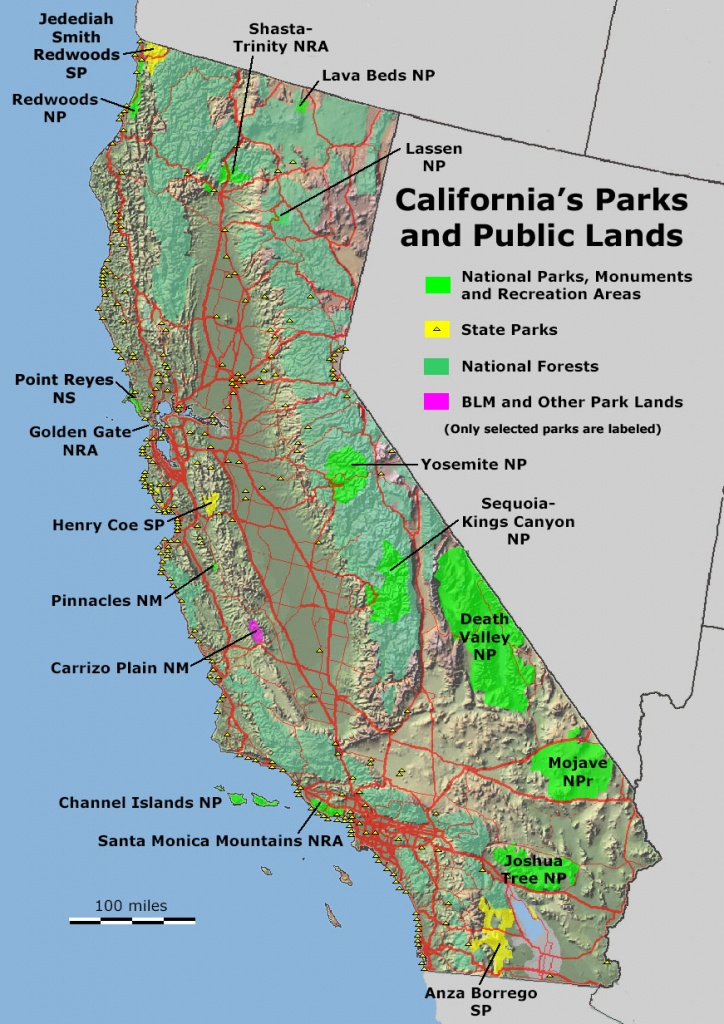 National Parks California Map And Travel Information | Download Free - Map Of California Parks
